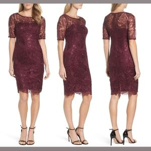 NWT Adrianna Papell Sequin Embellish Sheath Dress